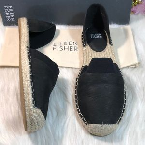 Eileen Fisher Lady-Nu d'Orsay Espadrille Flats 8M